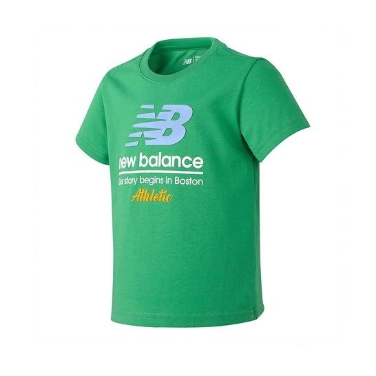 (NB公式)【50%OFF】(ログイン購入で最大8%ポイント還元) キッズ ビビッドTシャツ (グリーン) ライフスタイル ウェア / トップス ニューバランス newbalance セール