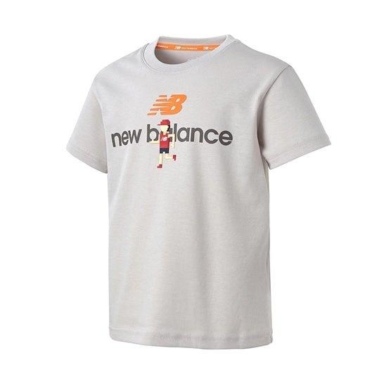 (NB公式)【ログイン購入で最大8%ポイント還元】 キッズ イラストレーションTシャツ (グレー) ライフスタイル ウェア / トップス ニューバランス newbalance