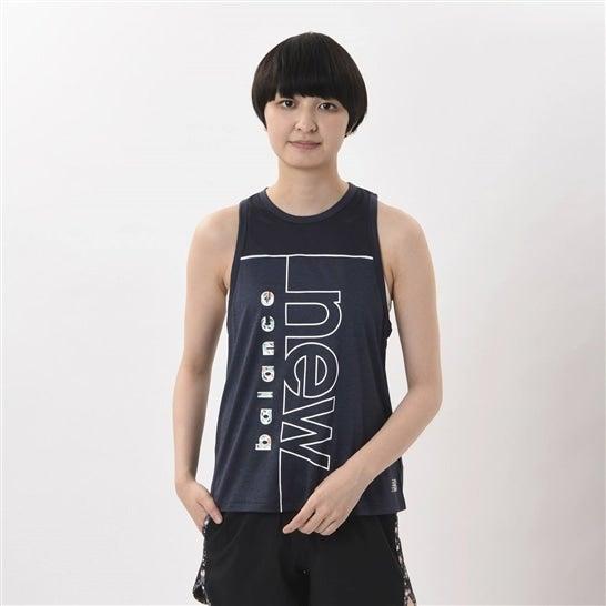 (NB公式)【ログイン購入で最大8%ポイント還元】 ウイメンズ SAKURA グラフィックファッションタンク (ブルー) ランニング スポーツウェア / トップス シャツ ランシャツ ニューバランス newbalance