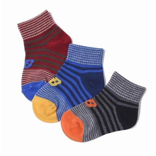 (NB公式)【ログイン購入で最大8%ポイント還元】 キッズ ボーイズ3Pソックス (AS2 アソートカラー2) 靴下 ソックス ニューバランス newbalance