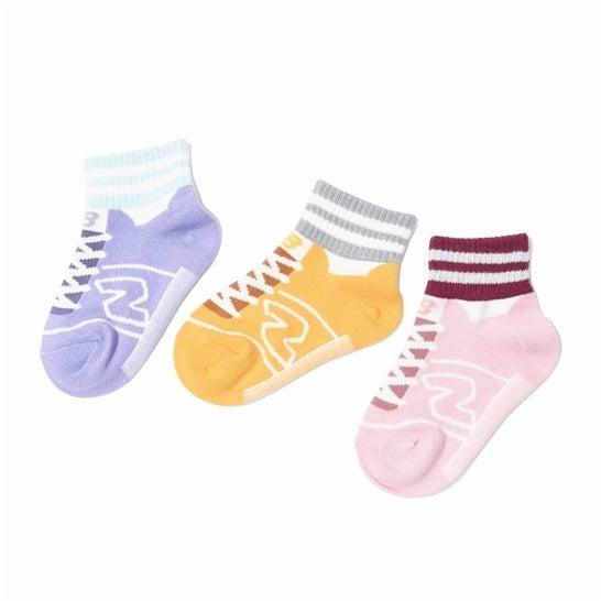 (NB公式)【ログイン購入で最大8%ポイント還元】 キッズ ガールズ3Pソックス (AS1 アソートカラー1) 靴下 ソックス ニューバランス newbalance