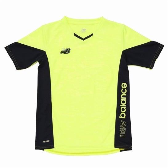 (NB公式)【40%OFF】(ログイン購入で最大8%ポイント還元) キッズ プラクティスシャツ ショートスリーブ(接触冷感機能加工) (イエロー) サッカー スポーツウェア / トップス ニューバランス newbalance セール