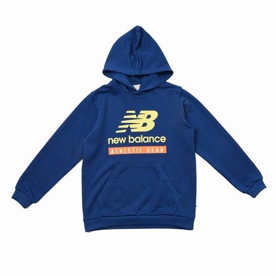 (NB公式)【30%OFF】(ログイン購入で最大8%ポイント還元) キッズ NB Essentials スウェットフーディー (ブルー) トレーニング スポーツウェア / トップス ニューバランス newbalance セール