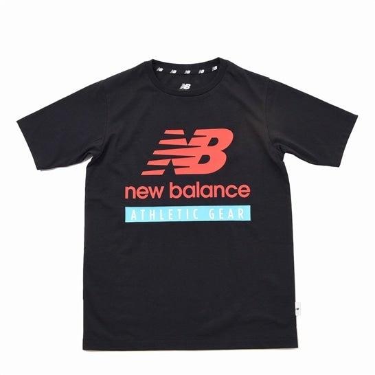 (NB公式)【30%OFF】(ログイン購入で最大8%ポイント還元) キッズ NB Essentials NBロゴ Tシャツ (ブラック) トレーニング スポーツウェア / トップス ニューバランス newbalance セール