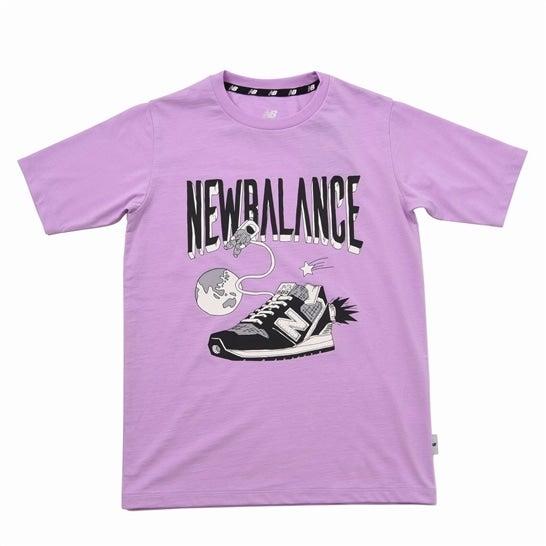 (NB公式)【30%OFF】(ログイン購入で最大8%ポイント還元) キッズ NB Character Tシャツ (パープル) トレーニング スポーツウェア / トップス ニューバランス newbalance セール