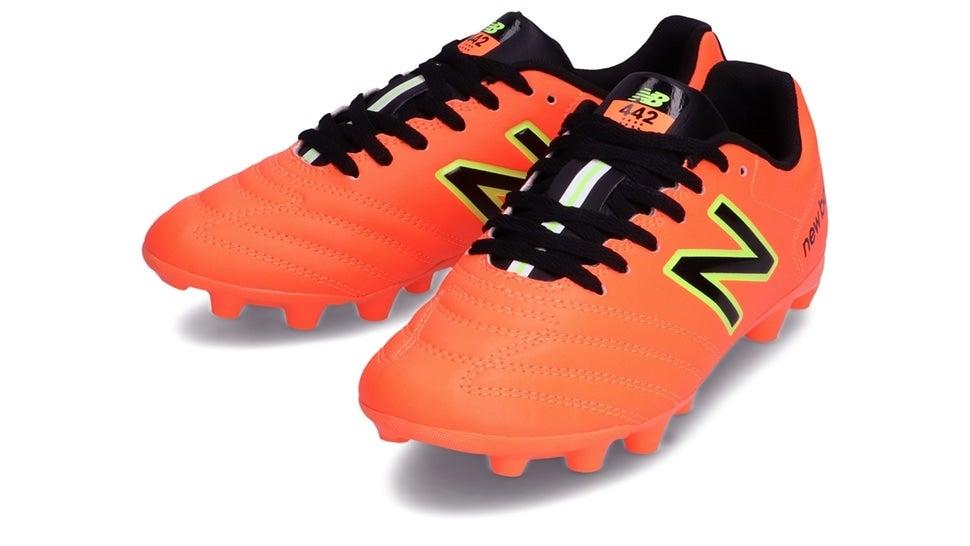 (NB公式)【ログイン購入で最大8%ポイント還元】 キッズ 442 ACADEMY JNR HG CI1 (オレンジ) サッカーシューズ スパイク 靴 ニューバランス newbalance