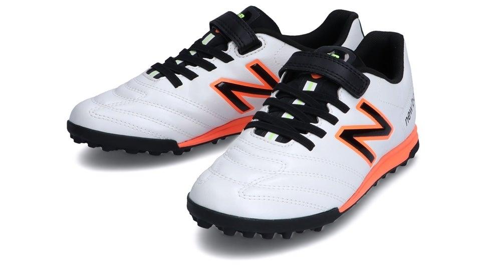 (NB公式)【ログイン購入で最大8%ポイント還元】 キッズ 442 ACADEMY JNR TF WC1 (WHITE/ORANGE) サッカー トレーニング・ターフシューズ 靴 ニューバランス newbalance