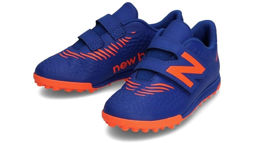 (NB公式)【ログイン購入で最大8%ポイント還元】 キッズ TEKELA JNR V TF BG3 (COBALT/ORANGE) サッカー トレーニング・ターフシューズ 靴 ニューバランス newbalance