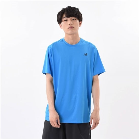 (NB公式)【ログイン購入で最大8%ポイント還元】 メンズ ラリーパフォーマンスクルーシャツ (ブルー) テニス スポーツウェア / トップス ニューバランス newbalance
