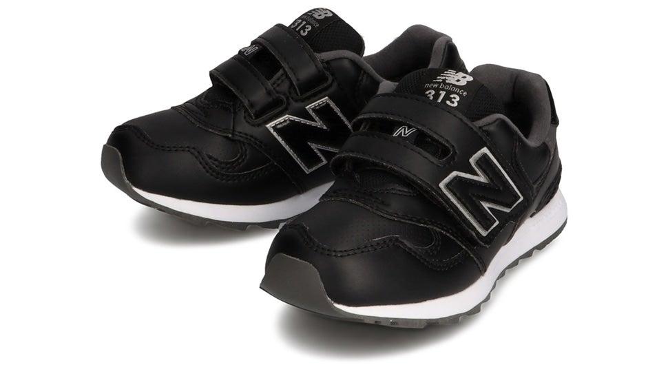 (NB公式)【ログイン購入で最大8%ポイント還元】 キッズ PO313L BK (ブラック) スニーカー シューズ 靴 ニューバランス newbalance