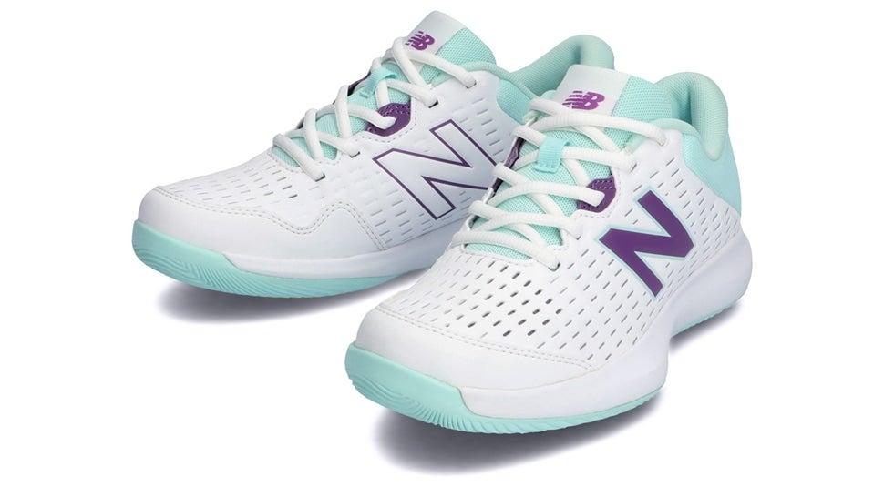 (NB公式)【ログイン購入で最大8%ポイント還元】 ウイメンズ WCH696 M4 (ホワイト) テニス オールコート用シューズ 靴 ニューバランス newbalance