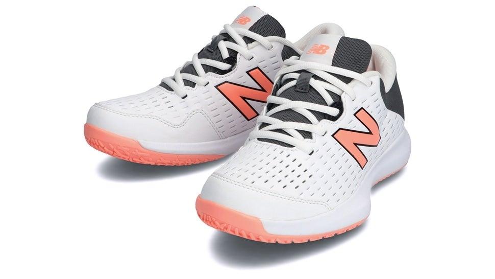 (NB公式)【ログイン購入で最大8%ポイント還元】 ウイメンズ WCO696 K4 (ホワイト) テニス オムニ・クレーコート用シューズ 靴 ニューバランス newbalance