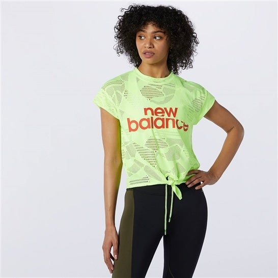 (NB公式)【40%OFF】(ログイン購入で最大8%ポイント還元) ウイメンズ N.U.A オープンメッシュ Tシャツ (イエロー) トレーニング スポーツウェア / トップス ニューバランス newbalance セール