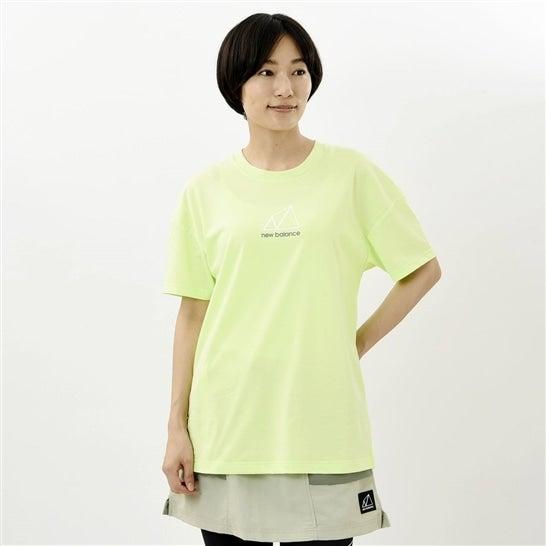 (NB公式)【40%OFF】(ログイン購入で最大8%ポイント還元) ウイメンズ NB All Terrain ショートスリーブ Tシャツ (イエロー) ライフスタイル ウェア / トップス ニューバランス newbalance セール