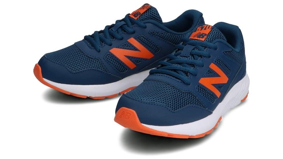 (NB公式)【ログイン購入で最大8%ポイント還元】 キッズ YK570BO2 (ブルー) ランニングシューズ 靴 ニューバランス newbalance