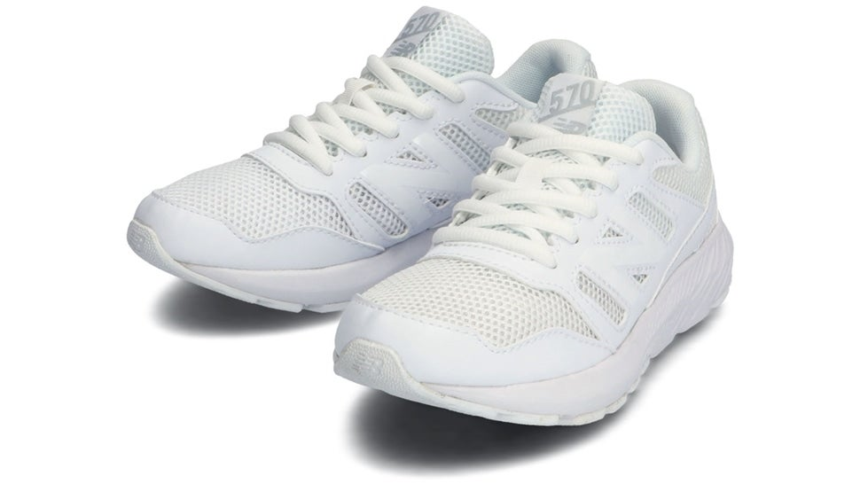 (NB公式)【ログイン購入で最大8%ポイント還元】 キッズ YK570 WG (ホワイト) ランニングシューズ 靴 ニューバランス newbalance
