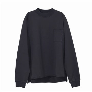 TDS GARMENT DYE Mock Neck Long Sleeve T-Shirts