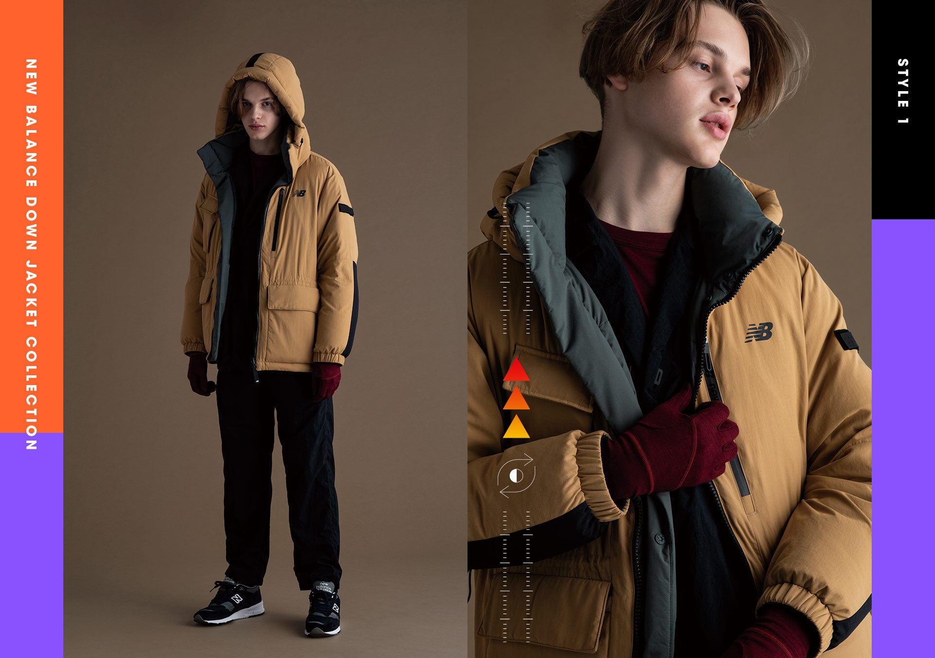 UTILITY REVERSIBLE GOOSE DOWN JACKET